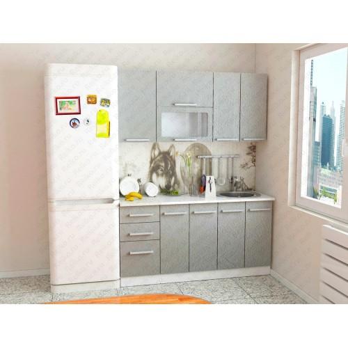 """Кухня """"Марина"""" 1,6м Бетон серый"""